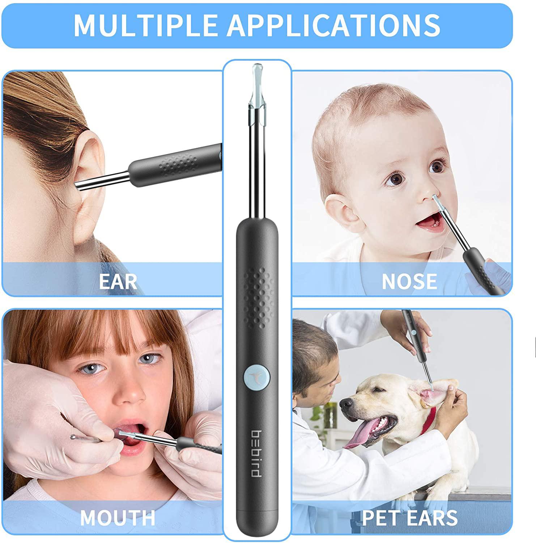 Bebird R1 Smart Visual Ear Sticks Endoscope 300W High Precision Earpick Mini Camera Otoscope Health Care Ear Cleaner