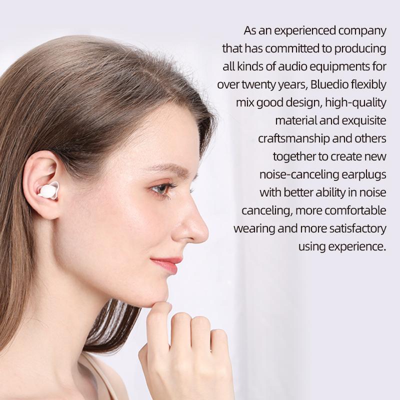 Bluedio NE 40dB Noise Reduction Sound Insulation Silicone Ear Plugs