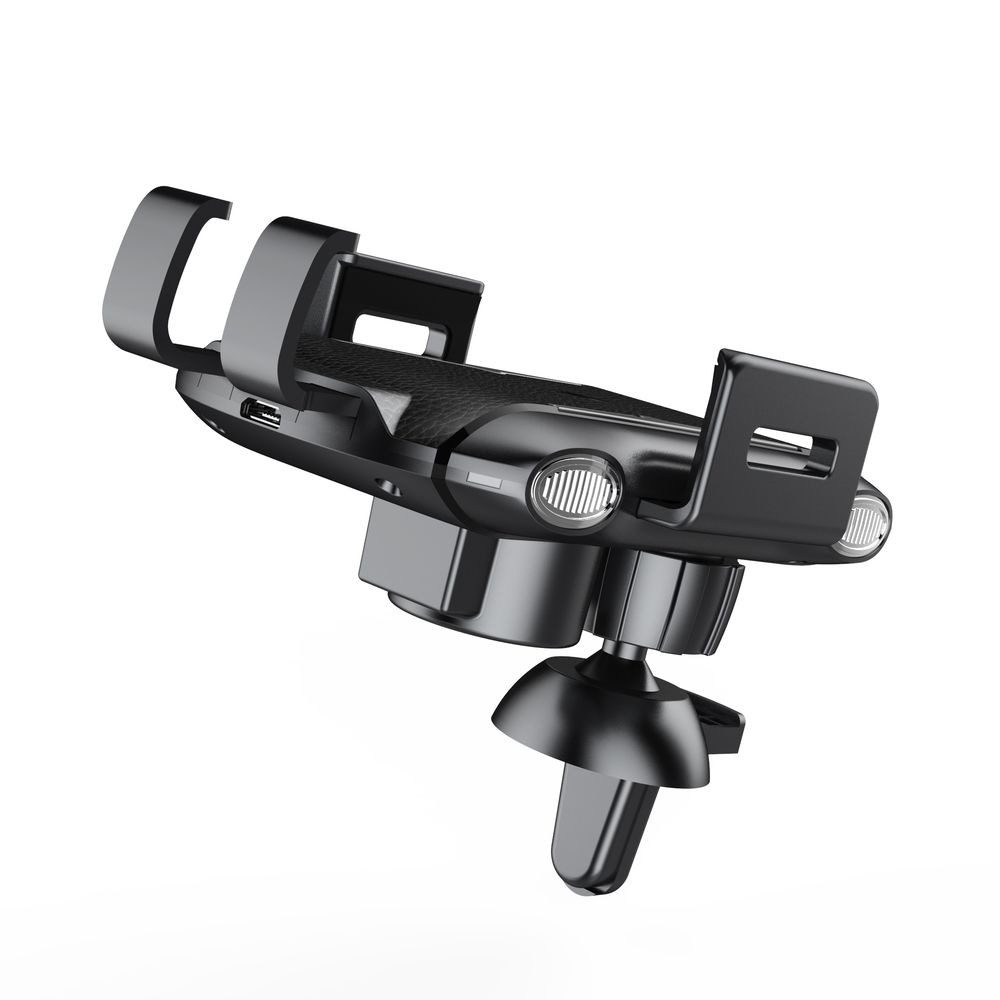 2 in 1 Fully Automatic Wireless Charging Magnetic Car Mount Mobile Phone Stand Holder for Type C