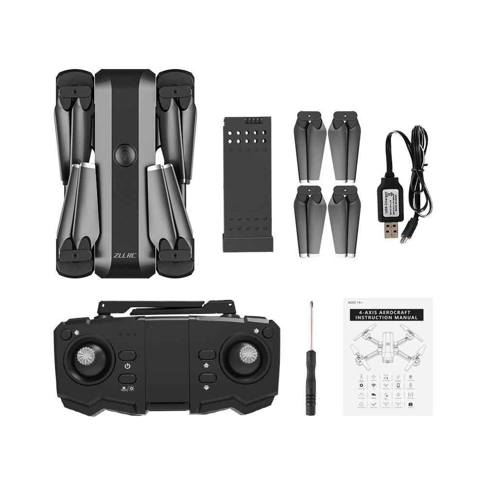 SG706 Wi-Fi FPV Optical Flow Positioning Foldable RC Quadcopter Drone with HD Camera