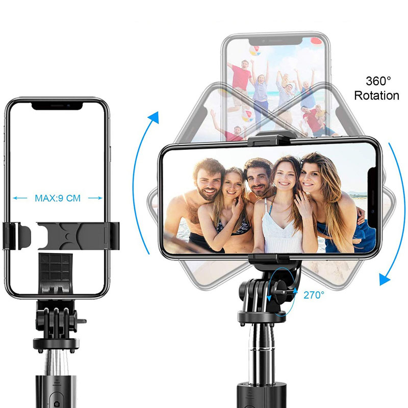 L02 Wireless Bluetooth Selfie Stick Tripod Foldable Tripod Monopods Universal For SmartPhones For Gopro Sports Action Camera