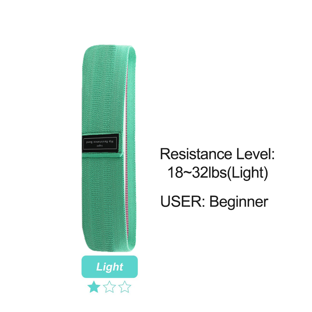 Elastic Squat Resistance Belts Fitness Resistance Bands 3 Pieces Set