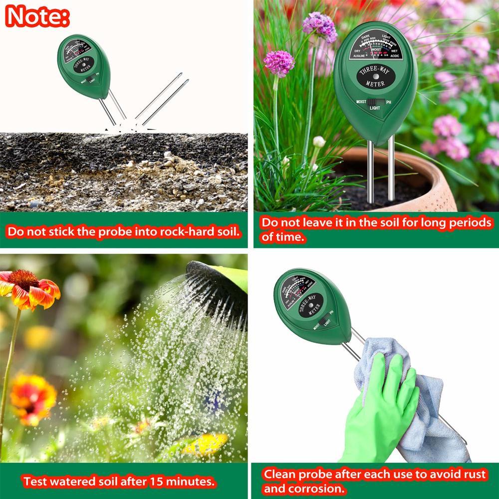 3 in1 Digital Soil pH Meter
