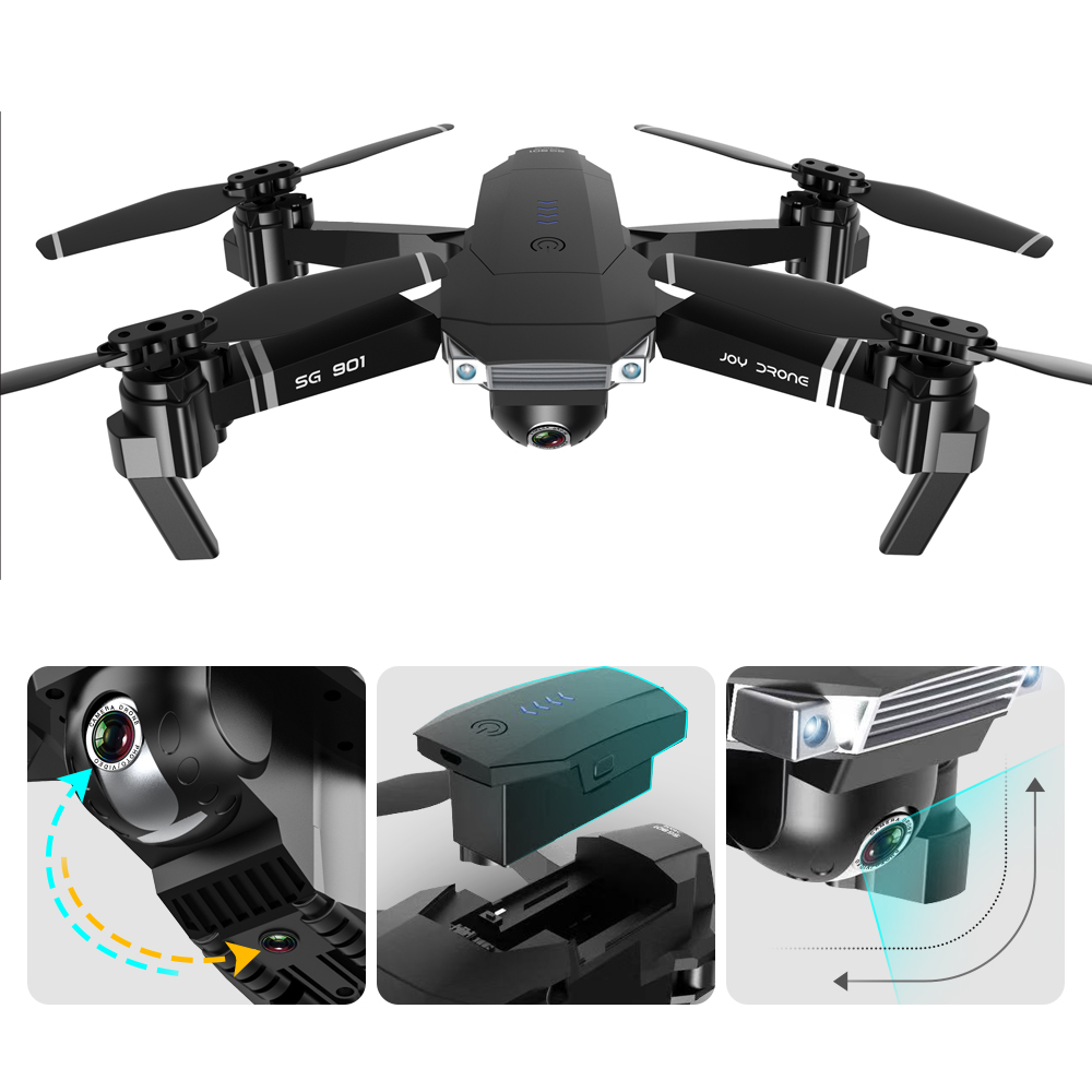 YUE SG901 Foldable WIFI FPV Headless Mode RC Drone Quadcopter with 4K Ultra HD Camera