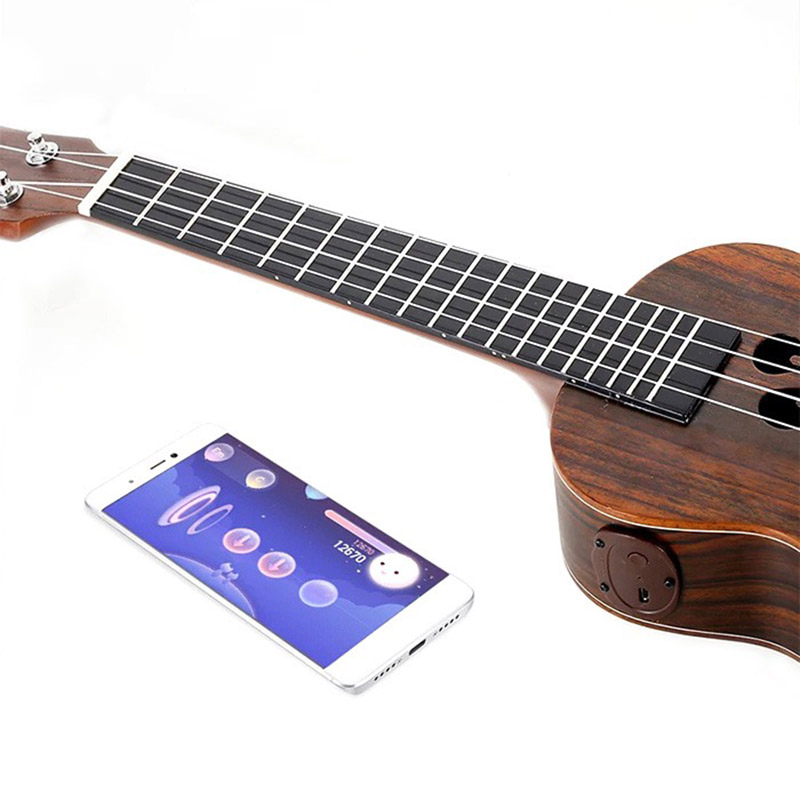 Populele S1 Acoustic Electric 23 Inches 4 Strings Bluetooth Smart Ukulele