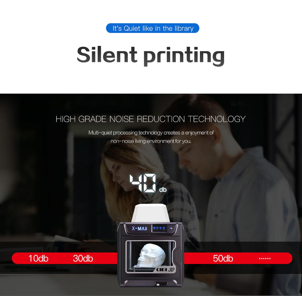 QIDI TECH X-MAX Large Size Industrial WiFi High Precision Printing 3D Printer Ship from US Warehouse