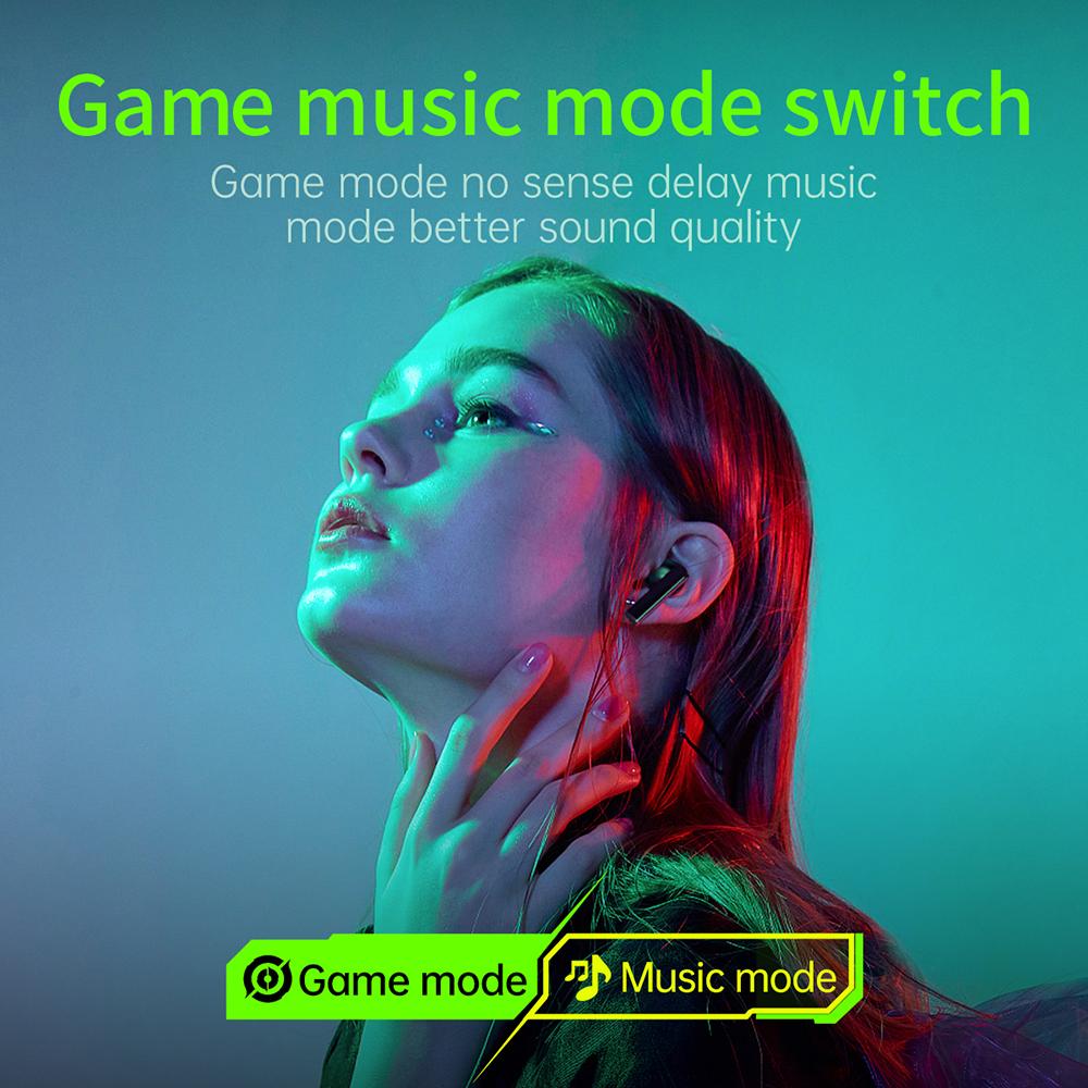Lenovo GM1 13mm Dynamic HIFI DSP Noise Reduction 65ms Low Latency Sweatproof In-Ear Earbuds Gaming True Wireless Stereo Earphones