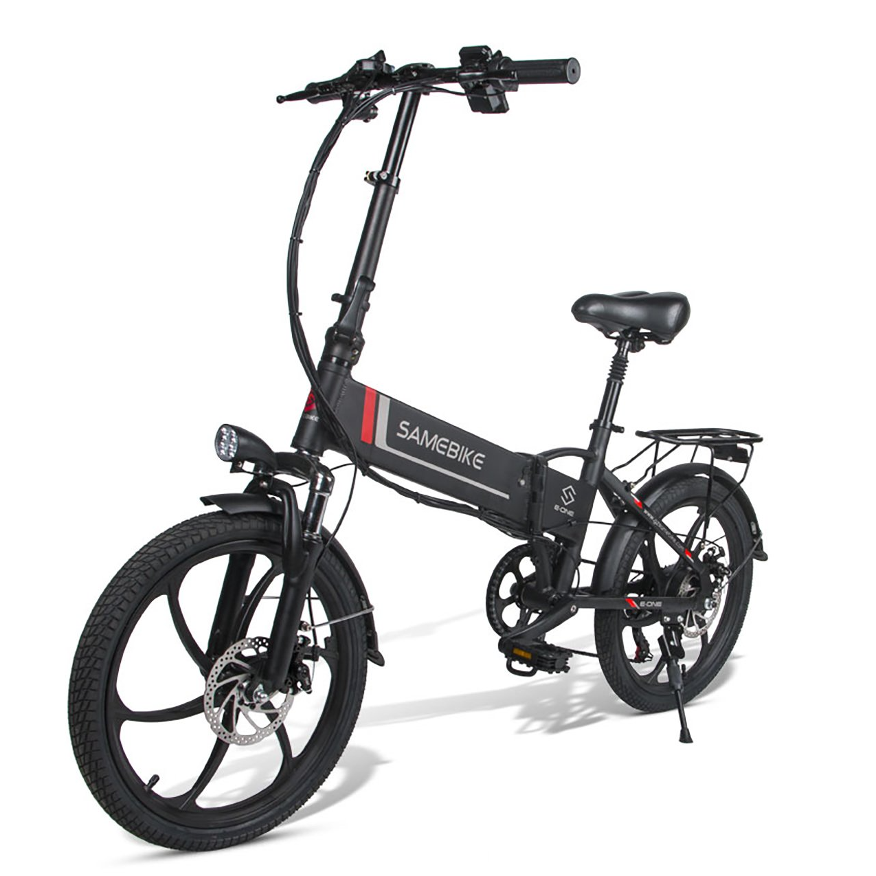 SAMEBIKE 20LVXD30 Folding Electric Bike 20 Inch Tires 350W Motor 10.4Ah Battery Max 35 KPH Ship from Poland Warehouse