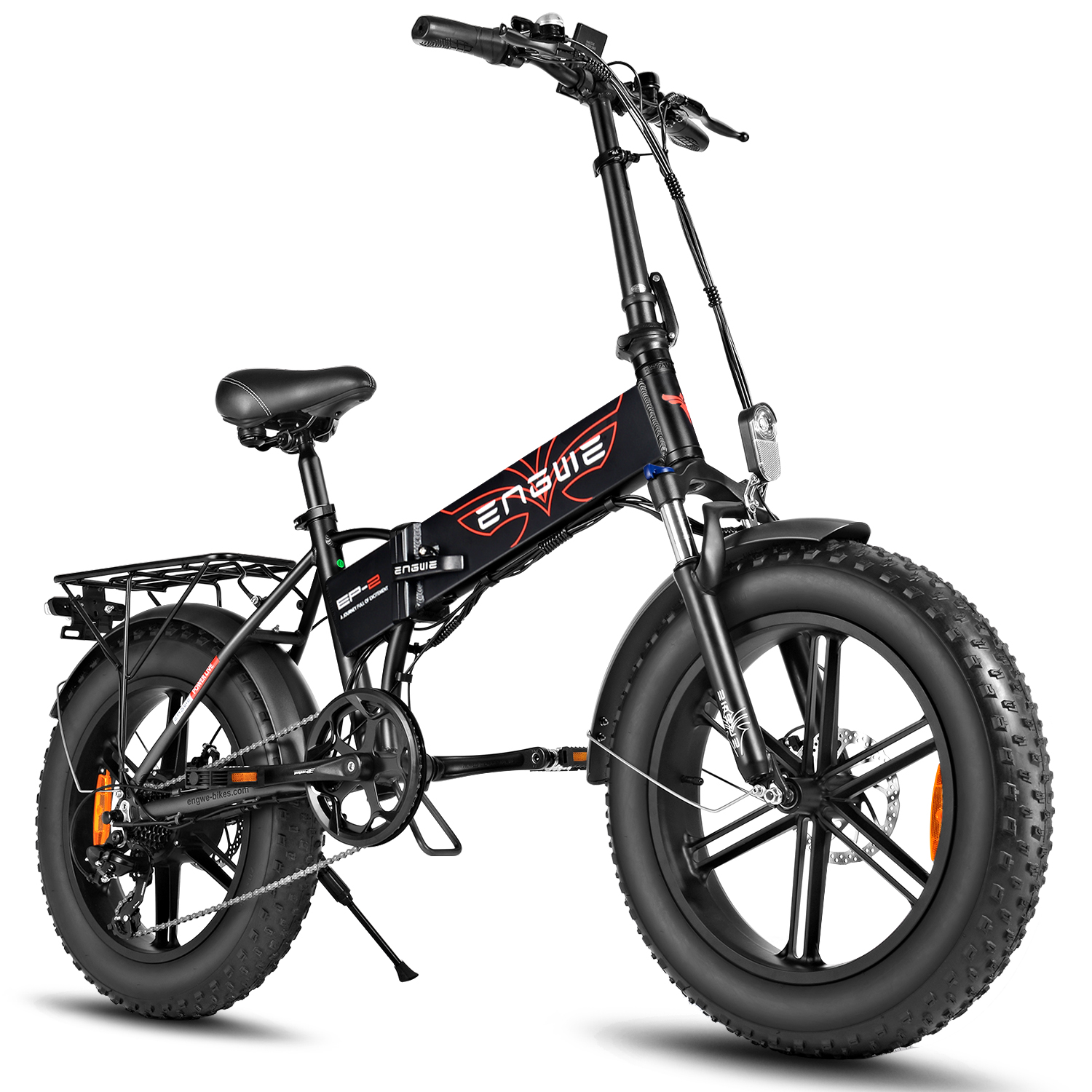 Pre Sale ENGWE EP-2 500W Folding Fat Tire Electric Bike with 48V 12.5Ah Lithium-ion Battery Ship from US Warehouse
