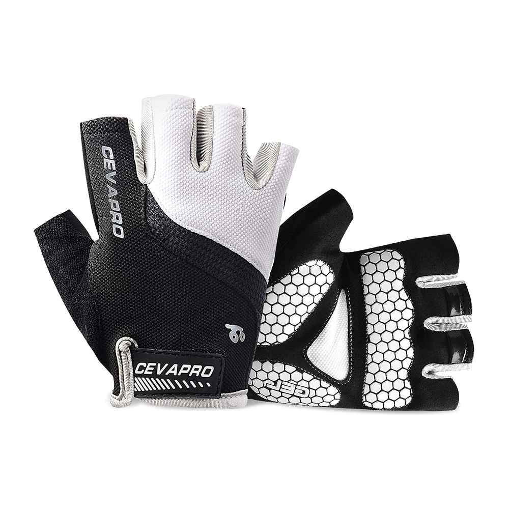 Mountain Road Half Finger Bicycle Gloves with Anti Slip Shock-Absorbing Gel Pad Cycling Gloves