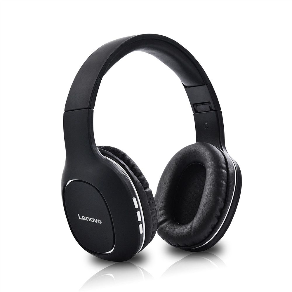 Lenovo HD300 Noise Reduction HD Call HiFi Stereo Foldable AUX Head-mounted Wireless Bluetooth Headset