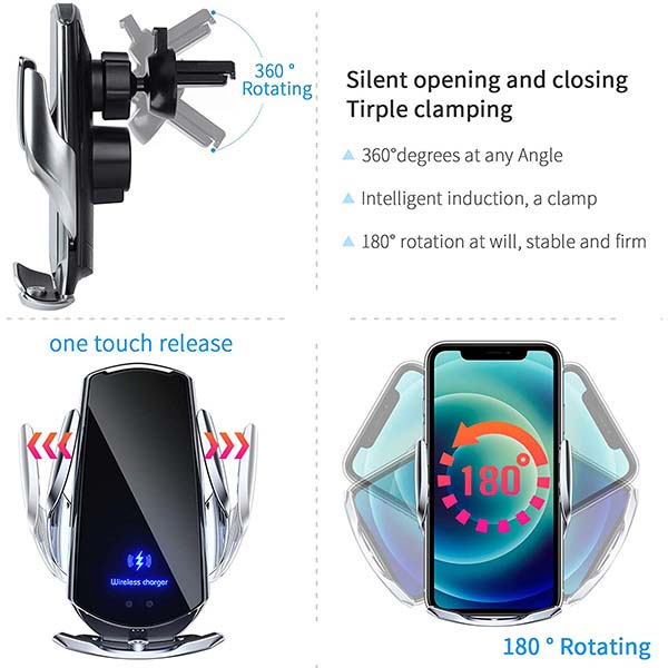 2021 Upgraded Hands-Free Wireless Phone Charger Stand