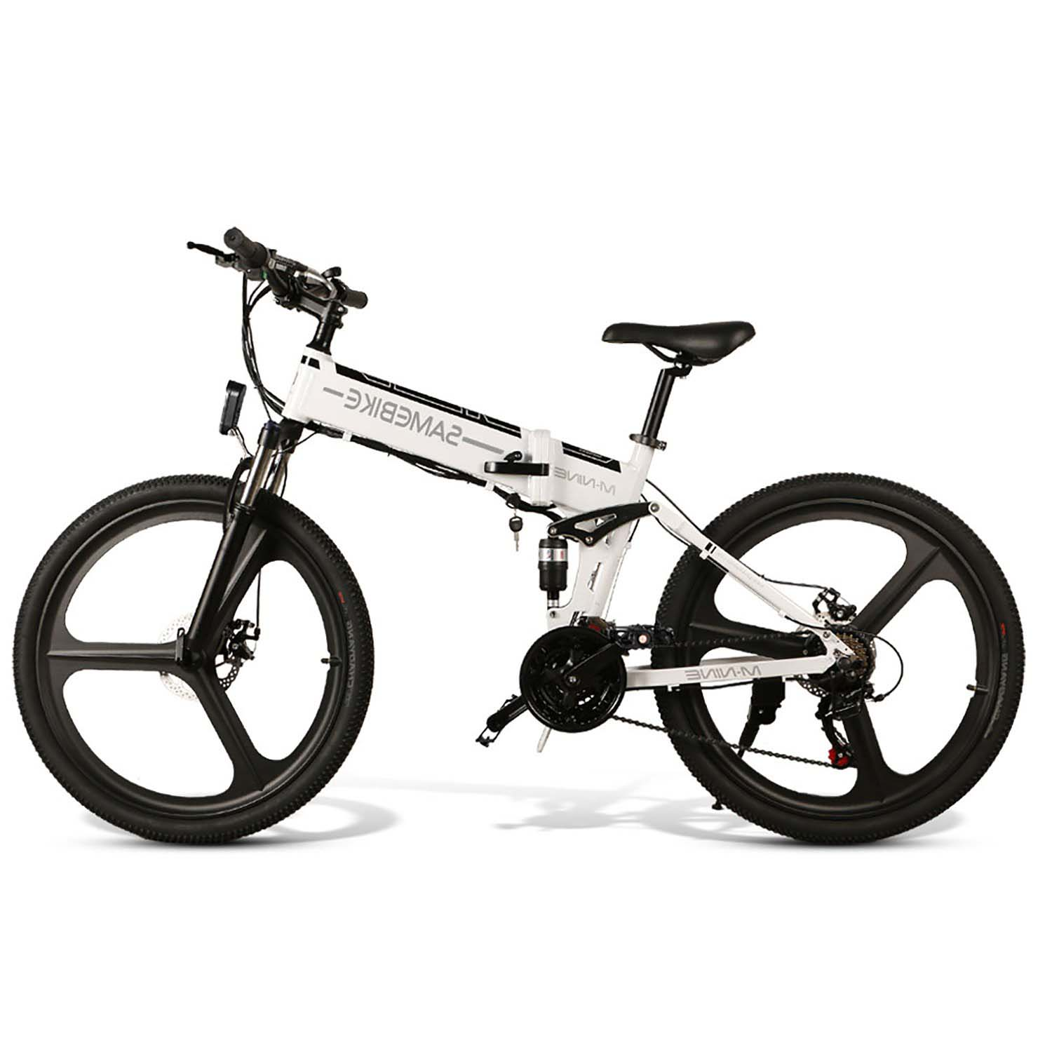 SAMEBIKE LO26 Folding Electric Bike 26 Inch Tires 350W Motor 10.4Ah Battery Max 35 KPH Ship from Poland Warehouse