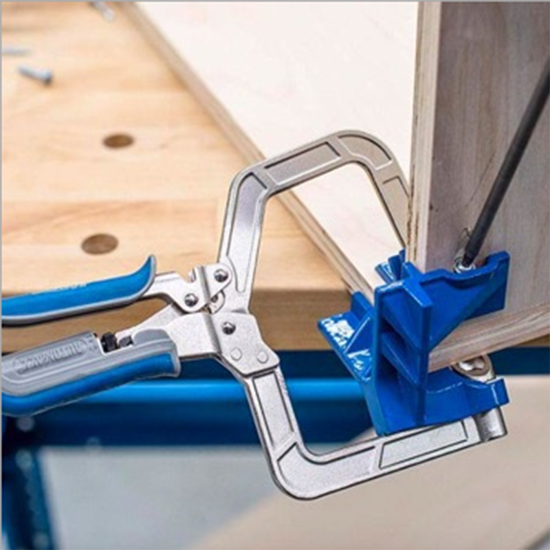 Auto Adjustable 90 Degree Right Angle Woodworking Clamp Quick Clamp Pliers Picture Frame Corner Clip Hand Tool T-Clamp
