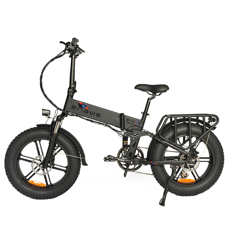ENGWE ENGINE PRO 750W Folding Fat Tire Electric Bike with 12.8Ah Battery and Hydraulic Suspension Ship from US Warehouse