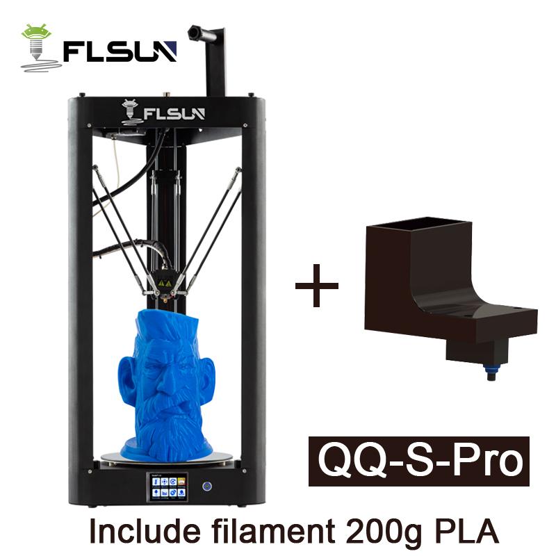 FLSUN QQ S Pro Pre-assembly 3D Printer Large Delta Kossel Auto-Level Three Dimensional Printer Ship from EU Warehouse