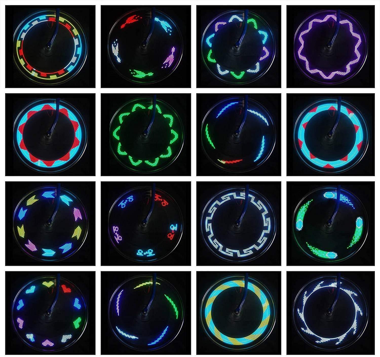 Waterproof LED Bicycle Spoke Lights Safety Tire Lights Bike Wheel Lights 2 Tire Pack