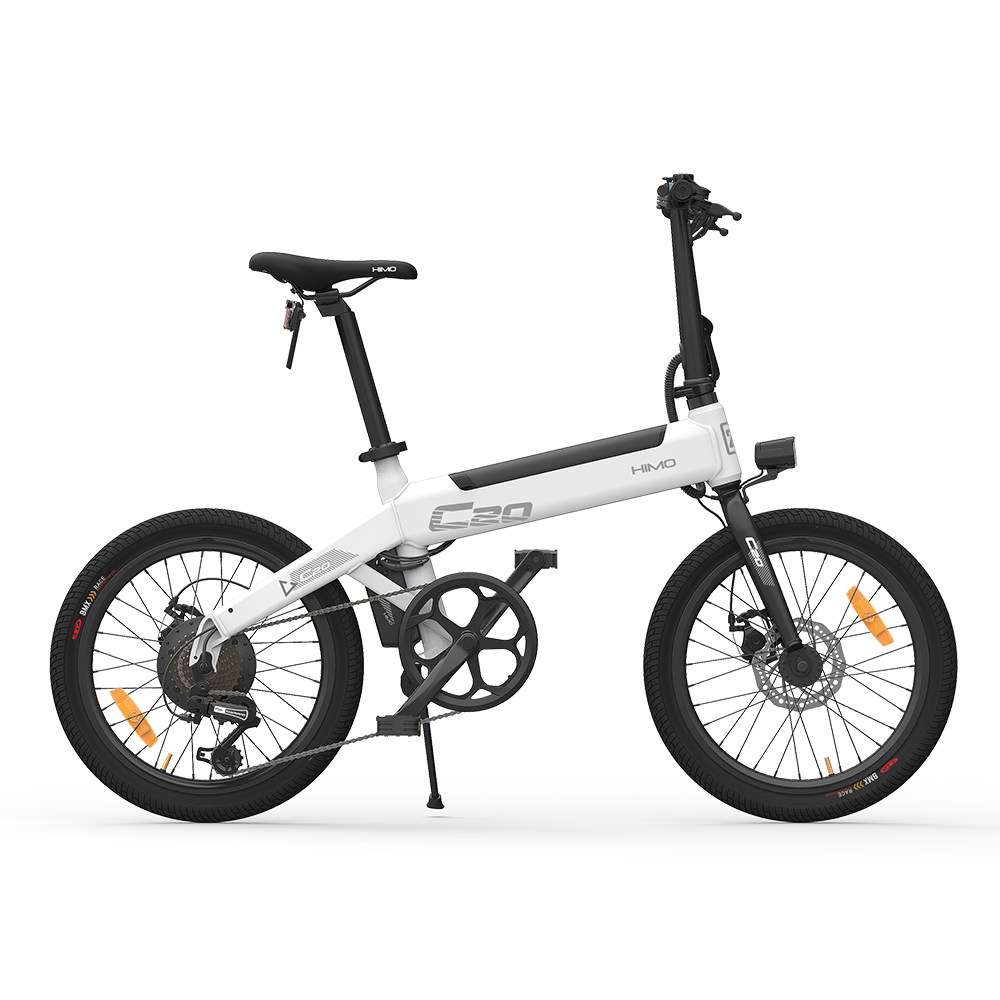 HIMO C20 Foldable Electric Moped Bicycle 250W Motor Max 25km/h 10Ah Battery Hidden Inflator Pump Variable Speed Drive Ship from EU Warehouse