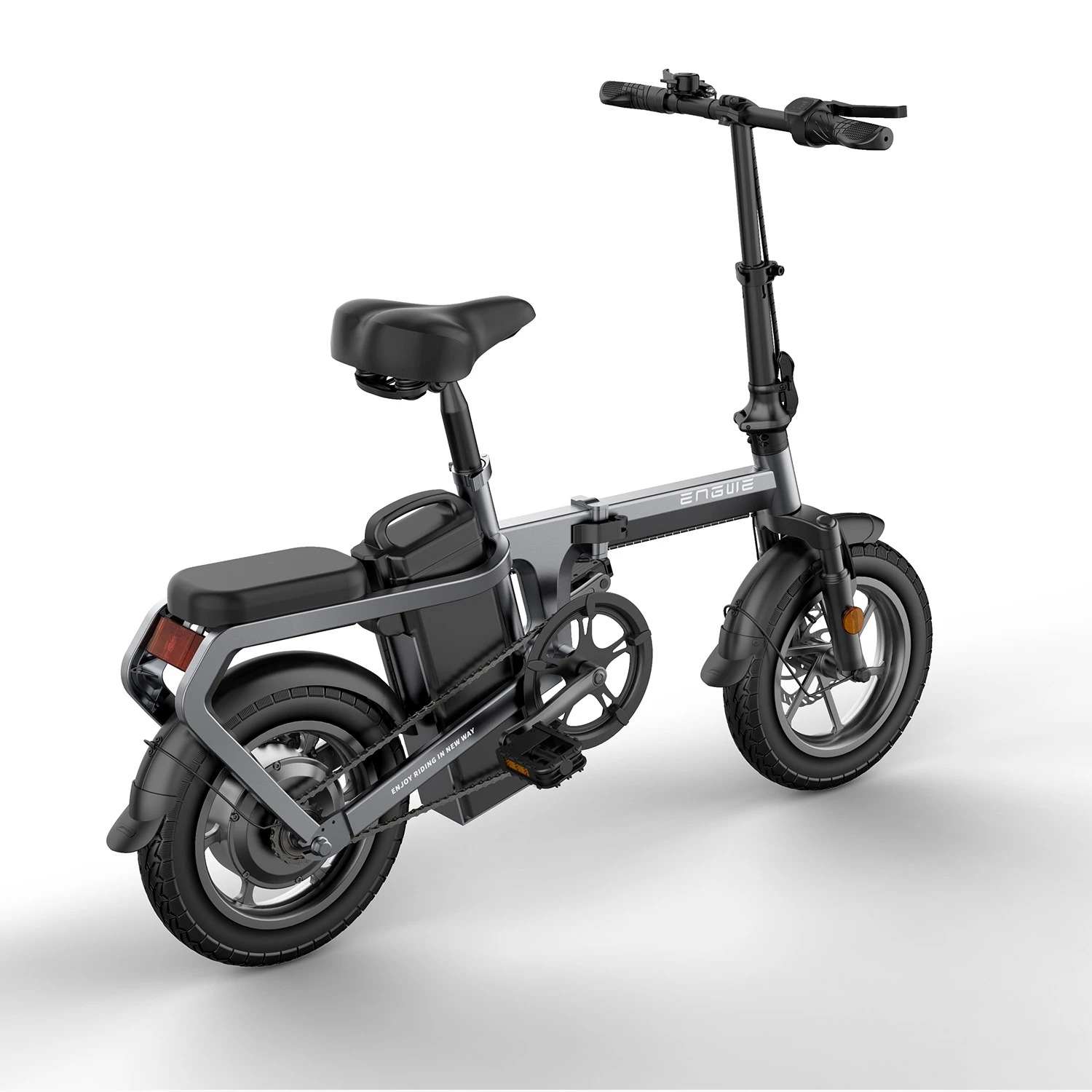 ENGWE X5 Folding Electric Bike with 10A Removable Battery Ship from US Warehouse