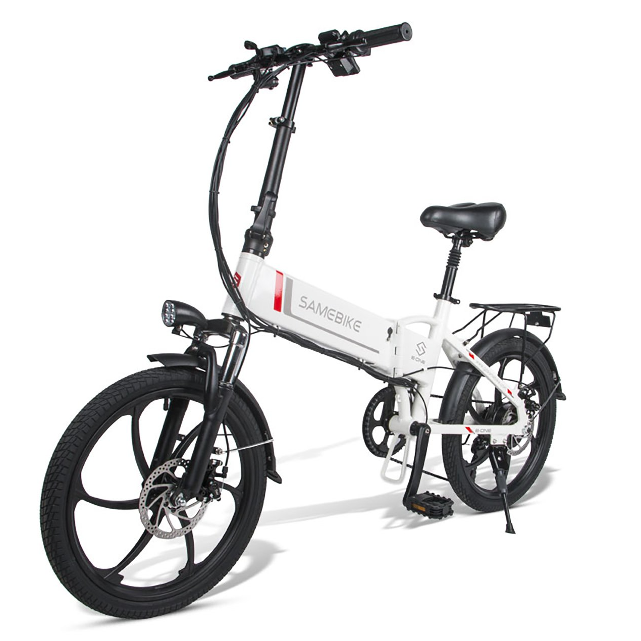 SAMEBIKE 20LVXD30 Folding Electric Bike 20 Inch Tires 350W Motor 10.4Ah Battery Max 35 KPH Ship from Poland Warehouse
