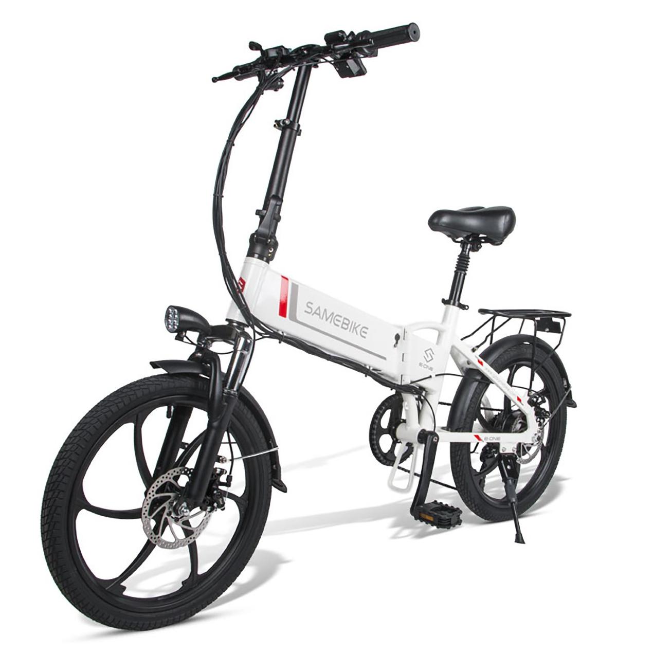 SAMEBIKE 20LVXD30 Folding Electric Bike 20 Inch Tires 350W Motor 10.4Ah Battery Max 35 KPH Ship from UK Warehouse