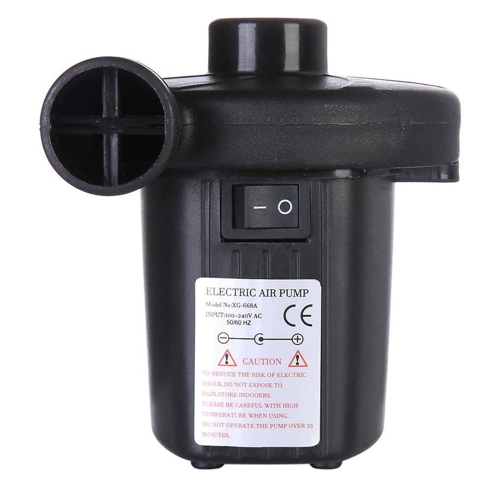 Portable Quick-Fill Electric Air Pump with 3 Nozzles Inflator Deflator Pumps