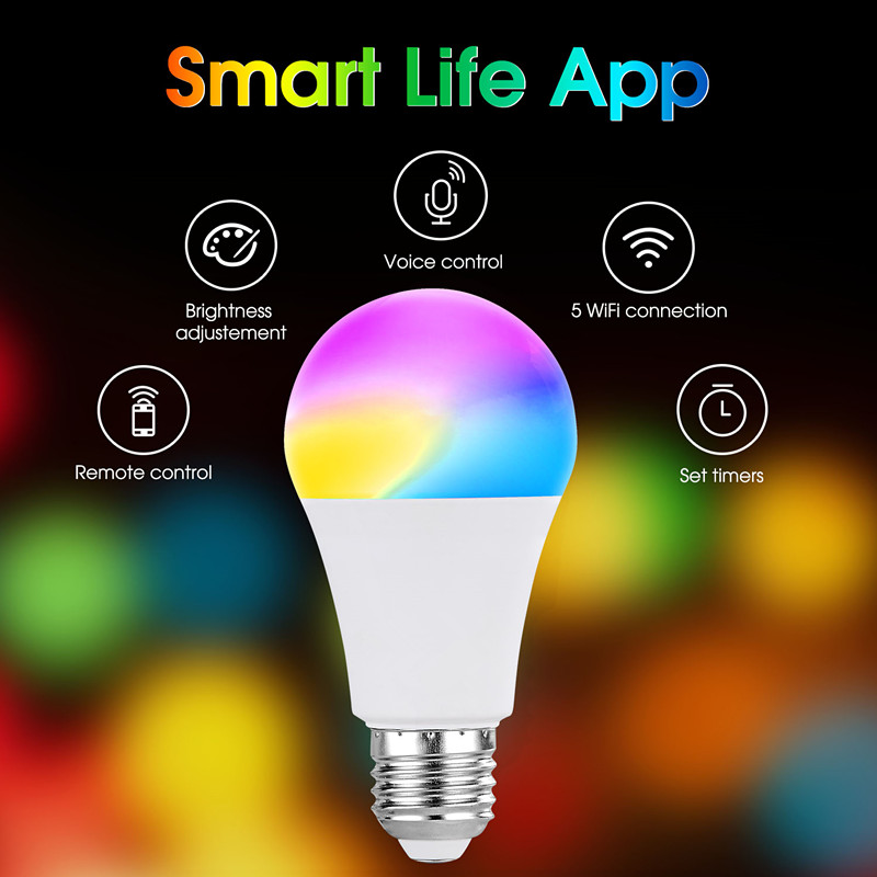 A19 Smart WiFi Light LED RGBCW Color Changing Bulb