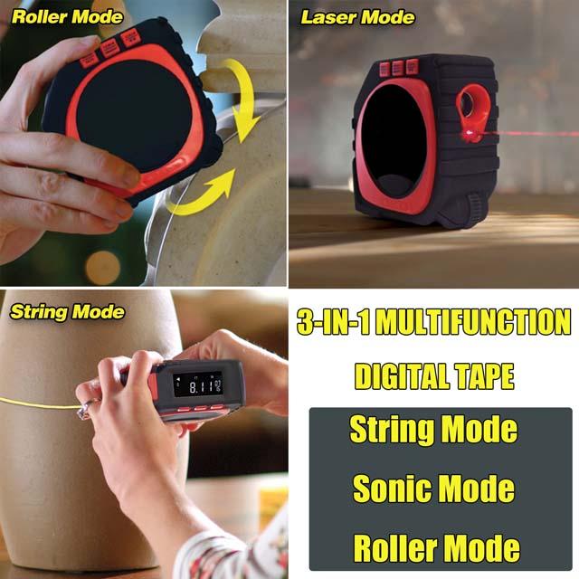 3-in-1 Laser Tape Measure