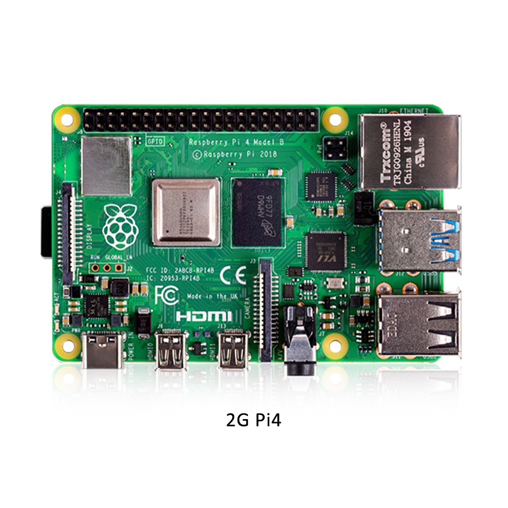 Raspberry Pi 4 Model B 2GB RAM Motherboard Kit with EU Power Adapter