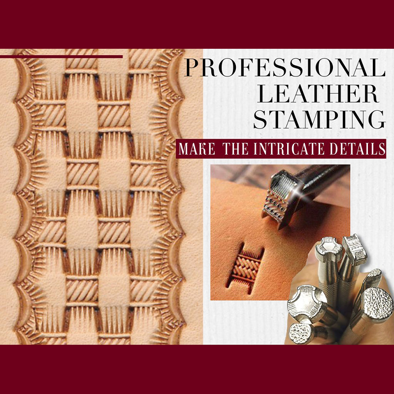 Leather Pattern Design Stamp Set