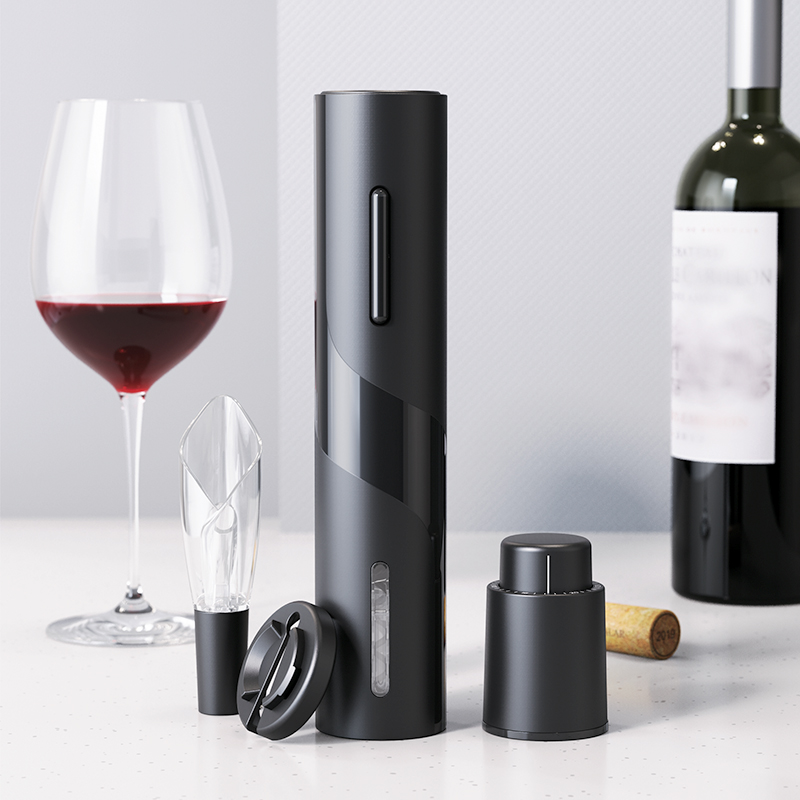 Portable Three Pieces Electric Wine Opener Kitchen Tool