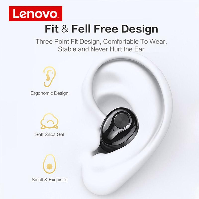 Lenovo HT18 True Wireless Stereo Bluetooth Noise Reduction Earbuds Headphones with Mic
