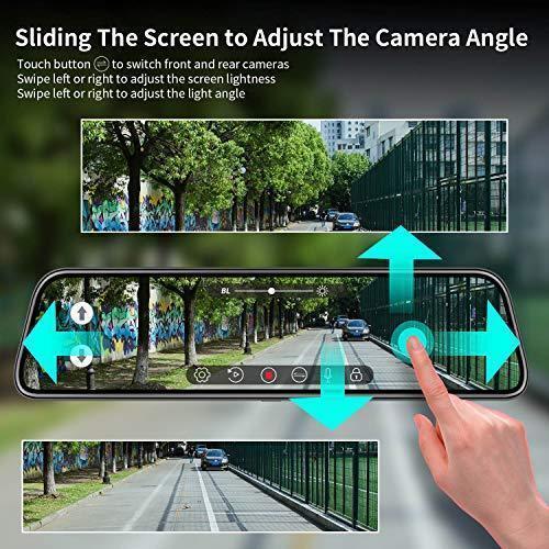 Car DVR Camera 4.3 Inch Full HD 1080P Rearview Mirror Dash Digital Video Recorder Dual Lens Camcorder