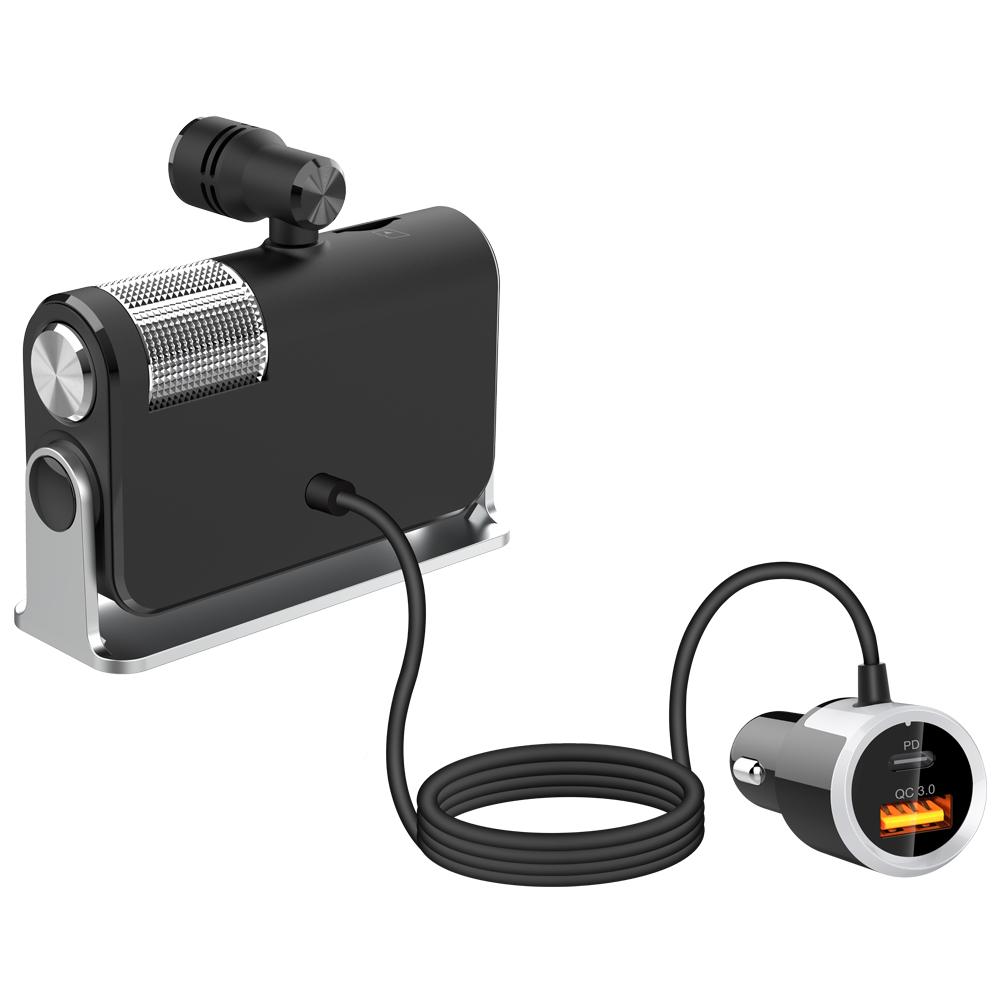 BC73 Car Bluetooth FM Transmitter USB C PD Charger BT FM Radio Adapter Bass Sound Music Player Car Accessories