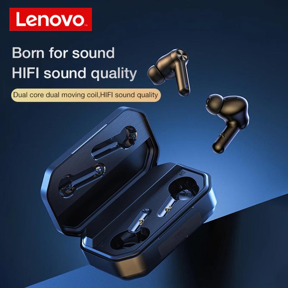 Lenovo LP3 Pro Bluetooth 5.0 Earbuds LED Power Display Noise Canceling Binaural Semi-in True Wireless Stereo Sports Earphones
