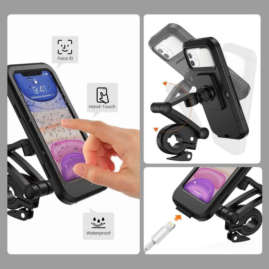 Waterproof Bike Cell Phone Holder for Motorcycle Bike Handlebars