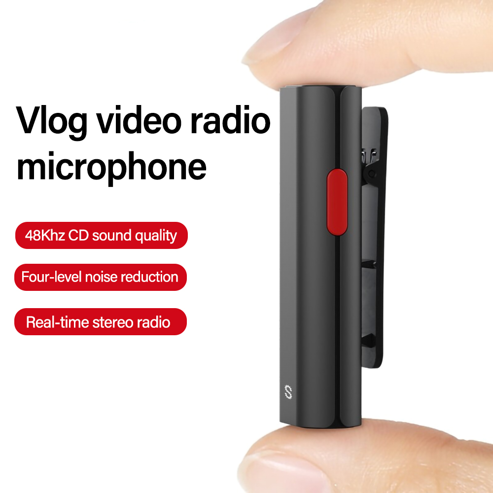 SabineTek Silver Wireless Bluetooth Lavalier Microphone for Vlogger Content Creator