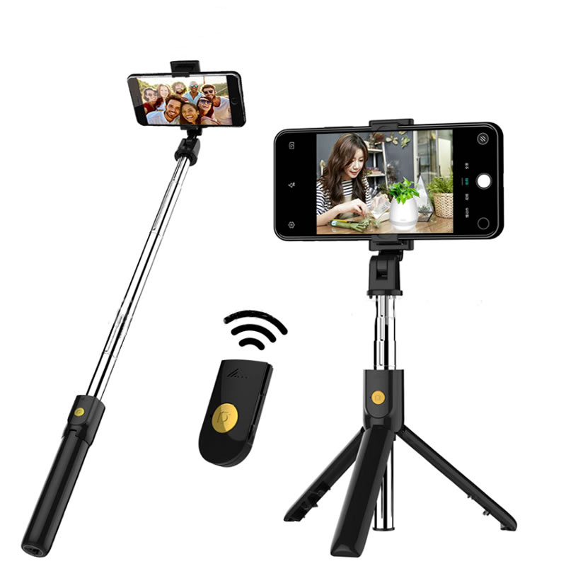 K07 3 In 1 Wireless Bluetooth Selfie Stick For Iphone/Android/Huawei Foldable Handheld Monopod Shutter Remote Extendable Mini Tripod