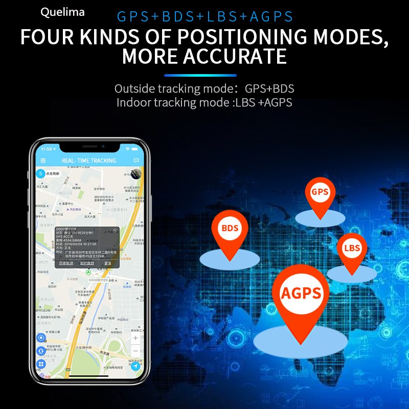 Kelima 618 Remote Recording Mini Portable Real Time GPS Tracker Locator