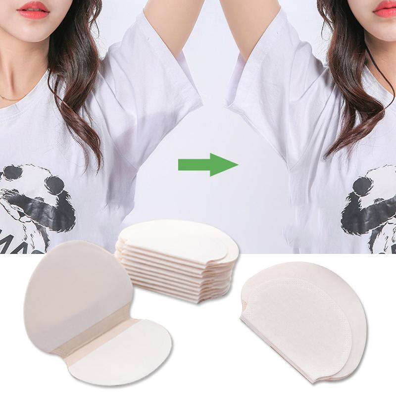 20PCS Unisex Disposable Sweat Pad Underarm Adhesive Sweat Patch Armpit Antiperspirant Deodorant Sweat Absorbent Stickers