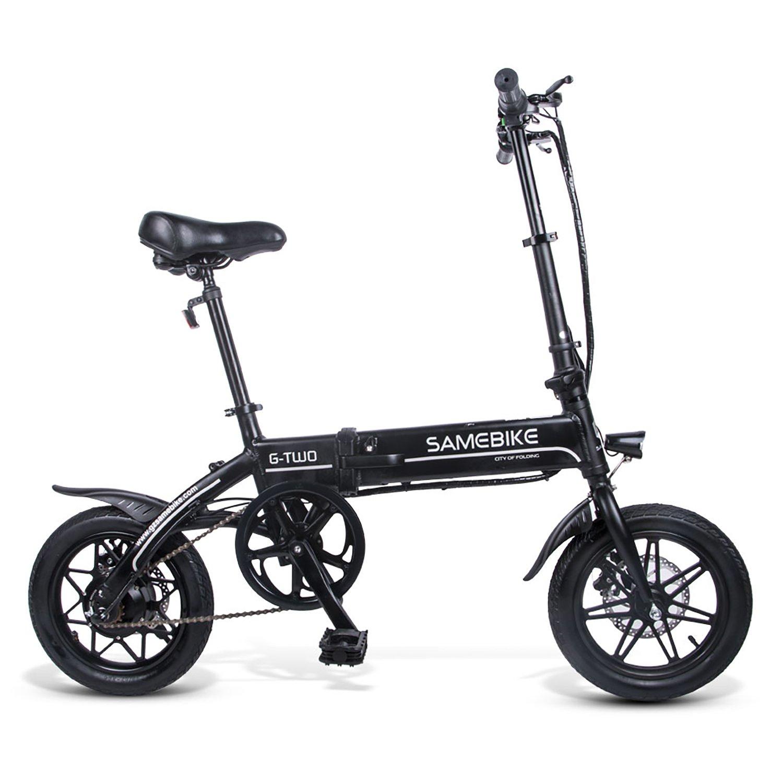 SAMEBIKE YINYU14 Folding Electric Bike 14 Inch Tires 250W Motor 8Ah Battery Max 25 KPH Ship from US Warehouse