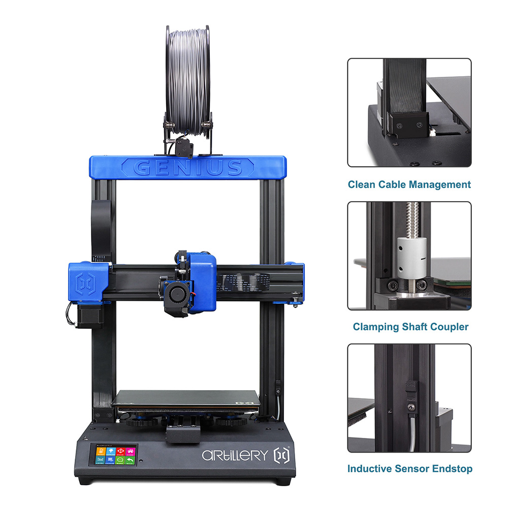 Artillery Genius 3D Printer Kit 220*220*250mm Print Size with Ultra-Quiet Stepper Motor TFT Touch Screen Ship from US Warehouse
