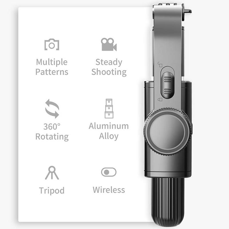 L08 Phone Stabilizer 3 in 1 Selfie Stick Handheld Grip Stabilizer Tripod Holder With Handle Remote Selfie Stand