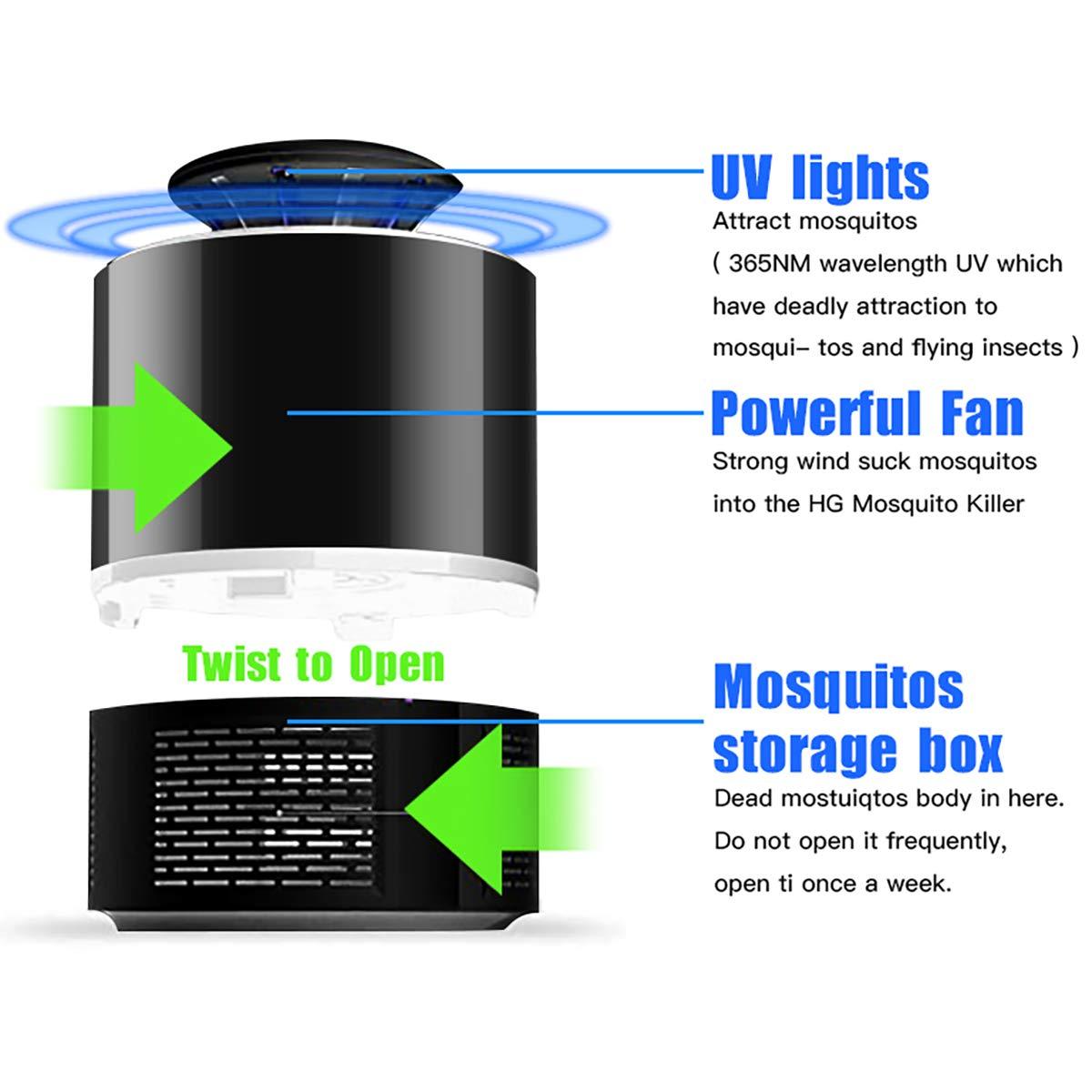 USB Powered Bug Zapper Mosquito Killer Lamp