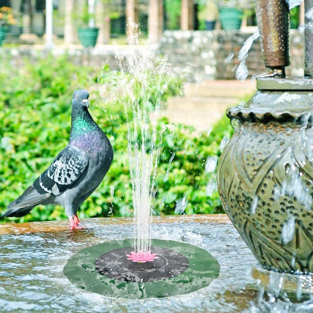 Lotus Solar Powered Fountain Pump Water Spary Pad