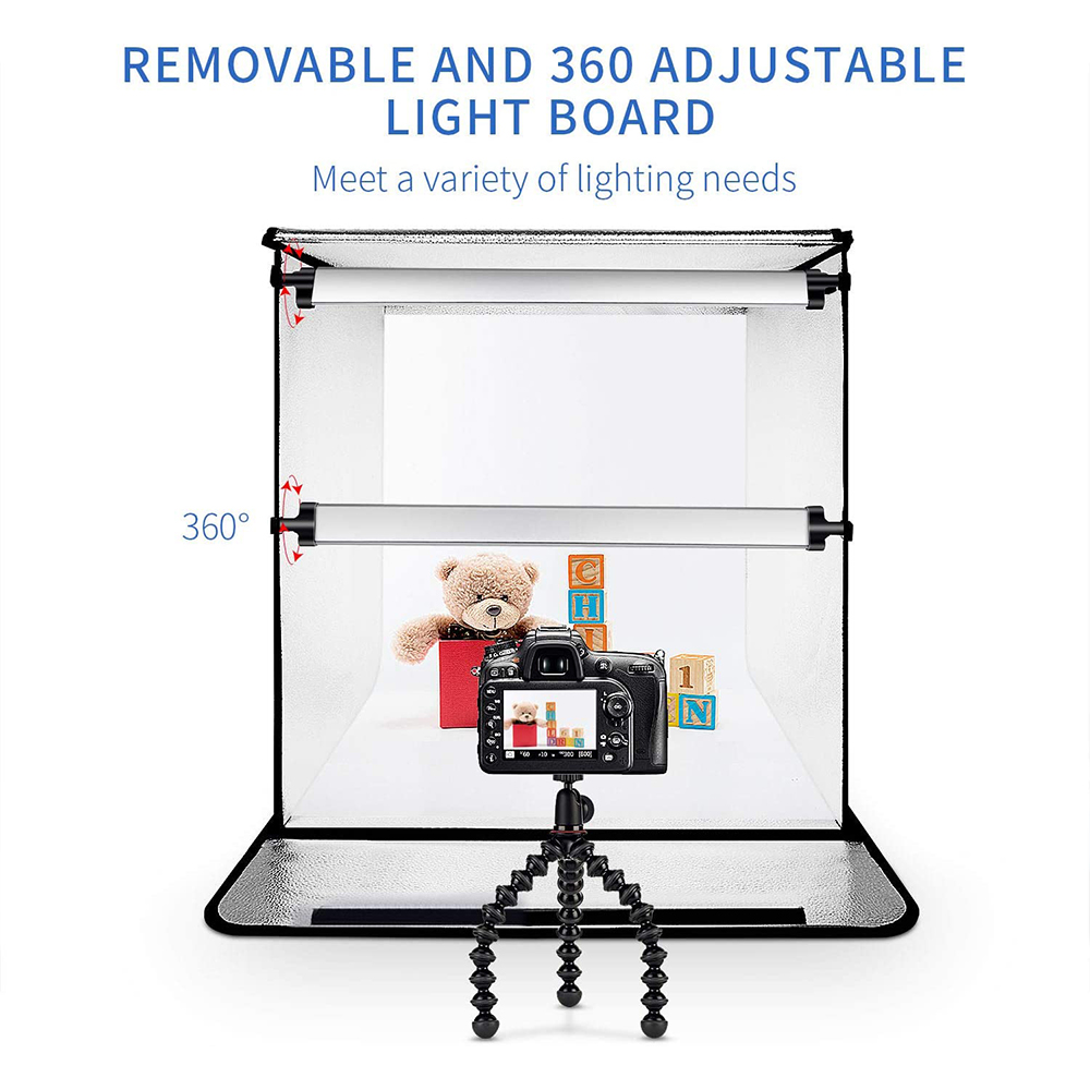 SAMTIAN F60 24 Inches/60cm Professional Studio Box Folded Shooting Tent Portable Booth Table Top Photography Lighting Kit Ship from German