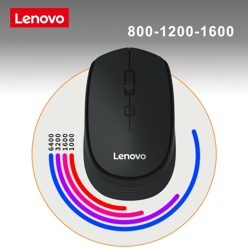 Lenovo M202 Mini USB Optical Wireless Computer Mouse Mute Mous 2.4G Receiver Adjustable DPI Portable Mouse