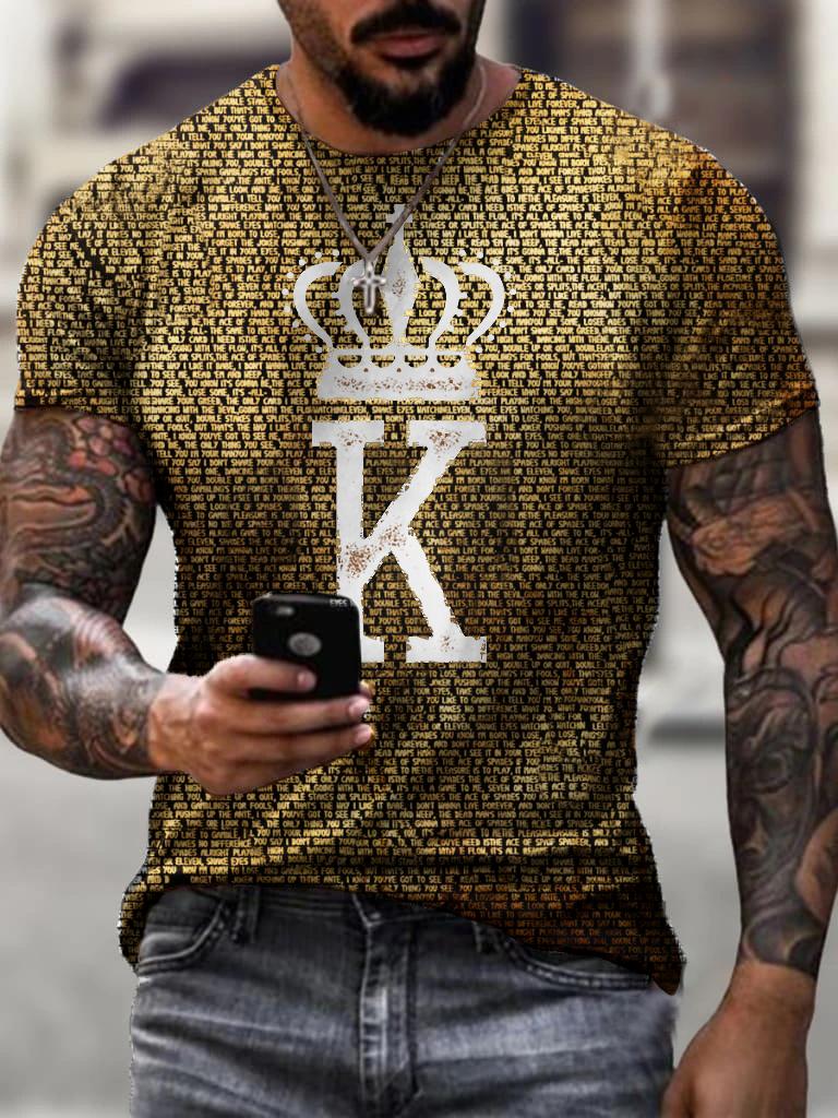 Designer King K playing card T-shirt