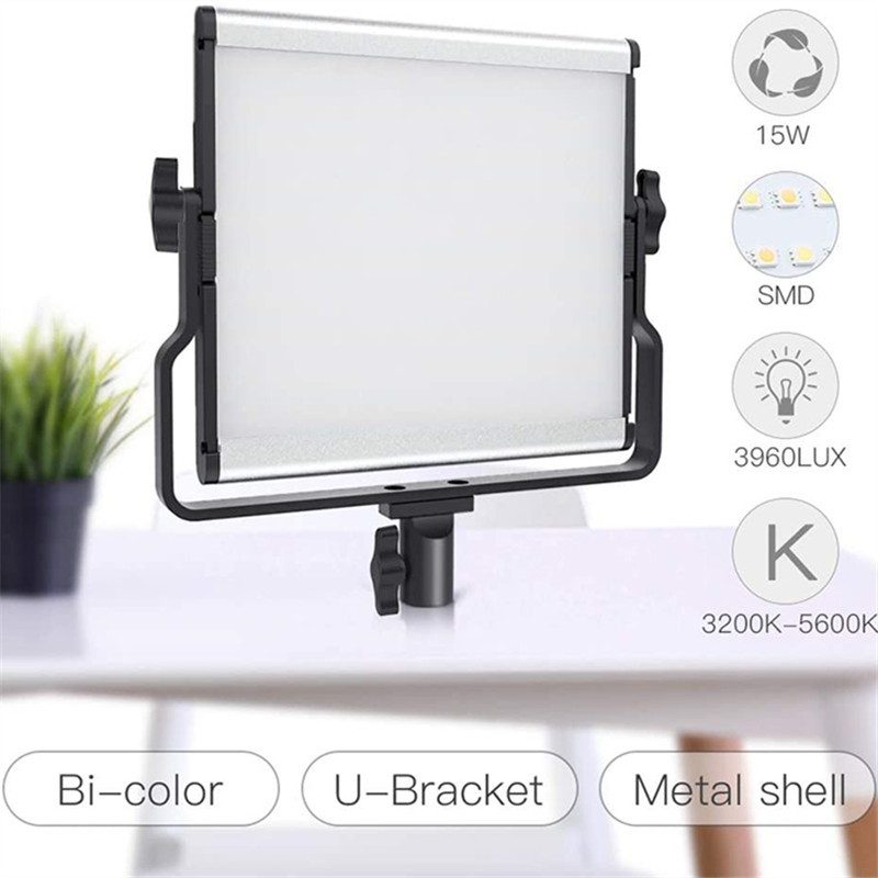 SAMTIAN L4500 Video Light LED 3960 Lux Two-color LCD display Bi-Color-LED Studio Video Light Twin Pack with U-shaped Tripod Mount Ship from German