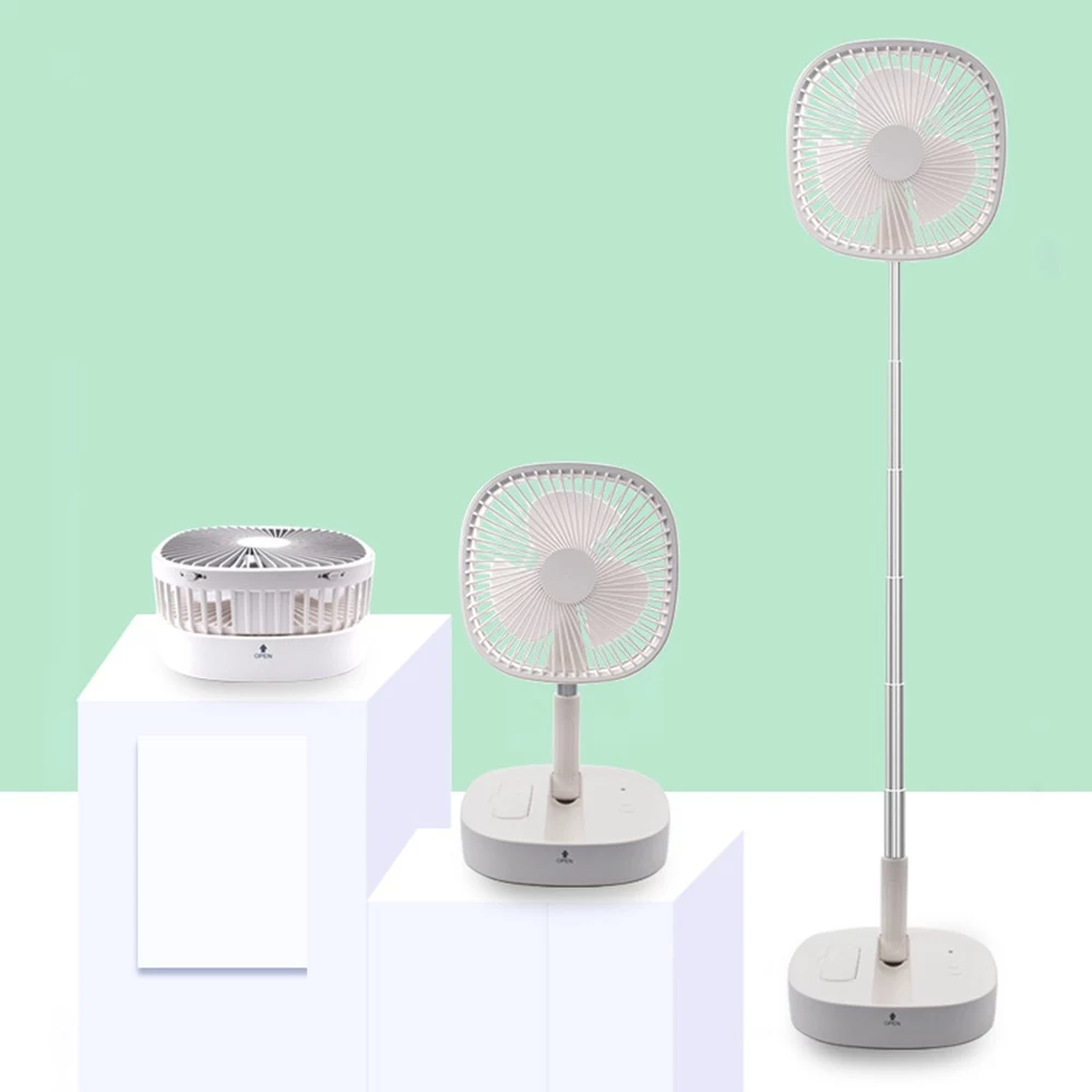 Quelima M1 Folding Remote Control Four-speed Timing Telescopic Landing Two-in-One USB Portable Fan Charge Pal Rechargeable